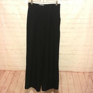 Giorgio Armani black wide leg dress pants size 8